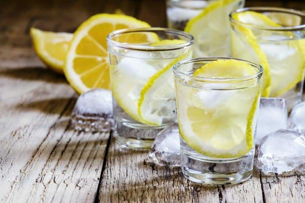 Vodka mit Eis